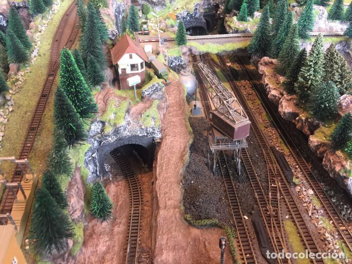 Trenes Escala: Extraordinaria y única MAQUETA DE TREN, gran tamaño, mas de 3 metros. Escala N. Leer mas... -vídeo- - Foto 31 - 95985167