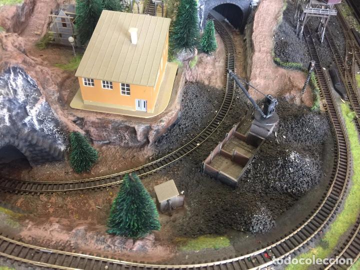 Trenes Escala: Extraordinaria y única MAQUETA DE TREN, gran tamaño, mas de 3 metros. Escala N. Leer mas... -vídeo- - Foto 33 - 95985167