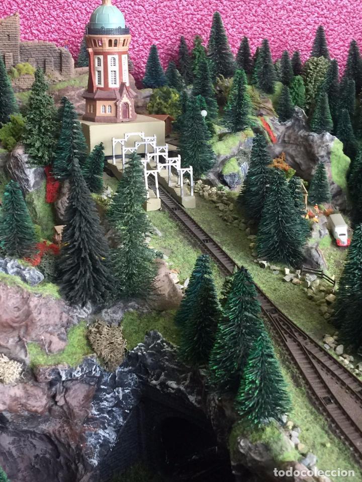 Trenes Escala: Extraordinaria y única MAQUETA DE TREN, gran tamaño, mas de 3 metros. Escala N. Leer mas... -vídeo- - Foto 34 - 95985167
