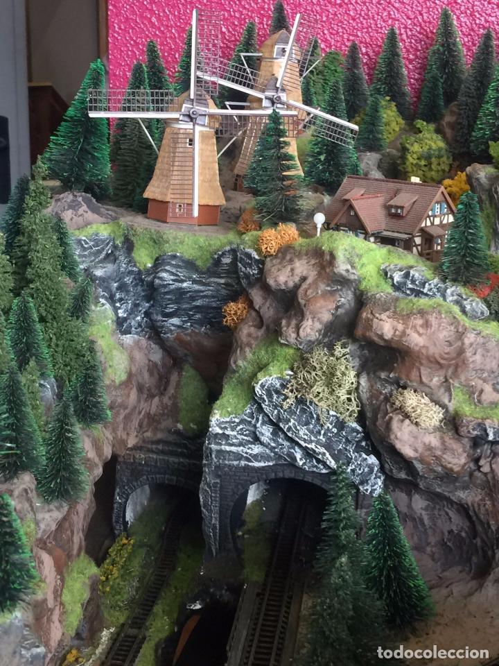 Trenes Escala: Extraordinaria y única MAQUETA DE TREN, gran tamaño, mas de 3 metros. Escala N. Leer mas... -vídeo- - Foto 36 - 95985167