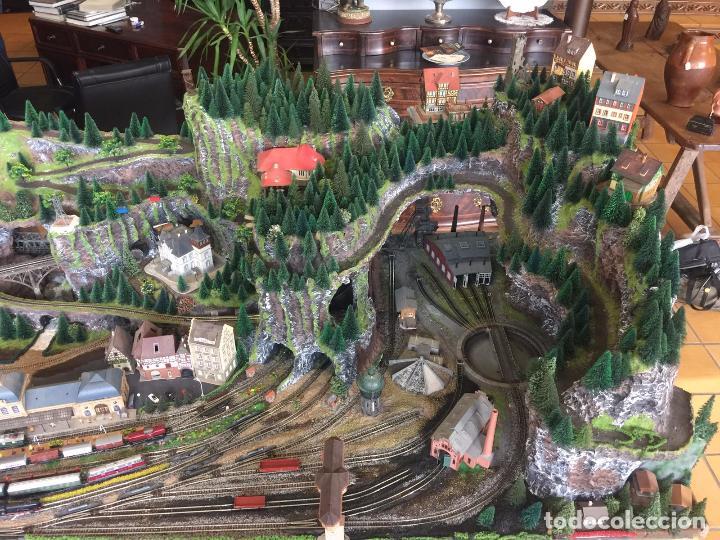 Trenes Escala: Extraordinaria y única MAQUETA DE TREN, gran tamaño, mas de 3 metros. Escala N. Leer mas... -vídeo- - Foto 37 - 95985167