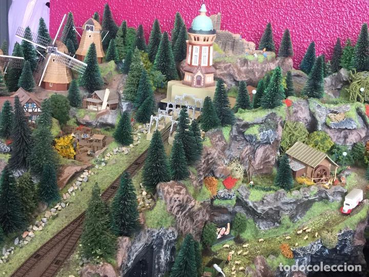 Trenes Escala: Extraordinaria y única MAQUETA DE TREN, gran tamaño, mas de 3 metros. Escala N. Leer mas... -vídeo- - Foto 38 - 95985167