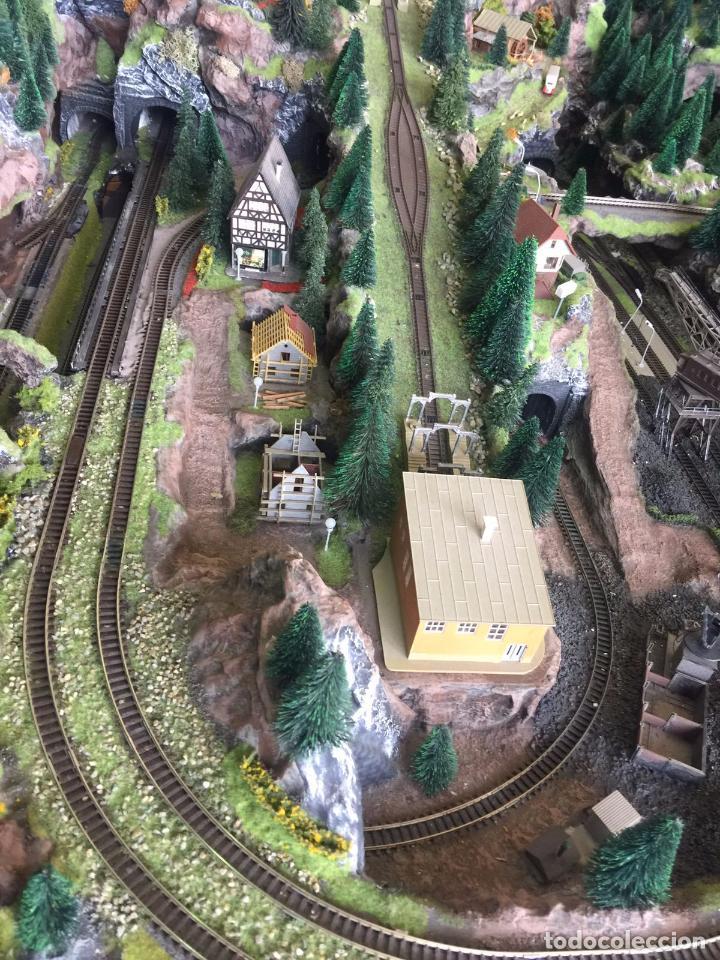 Trenes Escala: Extraordinaria y única MAQUETA DE TREN, gran tamaño, mas de 3 metros. Escala N. Leer mas... -vídeo- - Foto 39 - 95985167