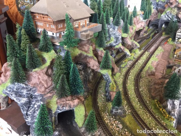 Trenes Escala: Extraordinaria y única MAQUETA DE TREN, gran tamaño, mas de 3 metros. Escala N. Leer mas... -vídeo- - Foto 40 - 95985167