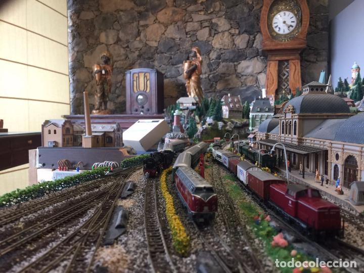 Trenes Escala: Extraordinaria y única MAQUETA DE TREN, gran tamaño, mas de 3 metros. Escala N. Leer mas... -vídeo- - Foto 43 - 95985167