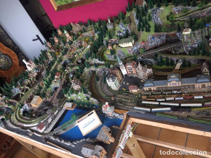 Trenes Escala: Extraordinaria y única MAQUETA DE TREN, gran tamaño, mas de 3 metros. Escala N. Leer mas... -vídeo- - Foto 46 - 95985167