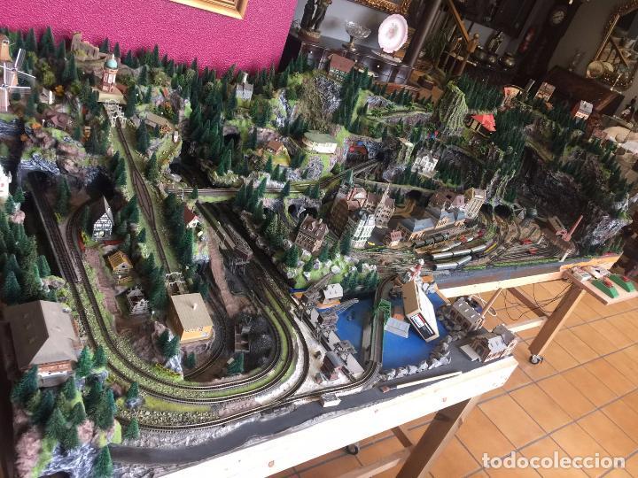 Trenes Escala: Extraordinaria y única MAQUETA DE TREN, gran tamaño, mas de 3 metros. Escala N. Leer mas... -vídeo- - Foto 47 - 95985167