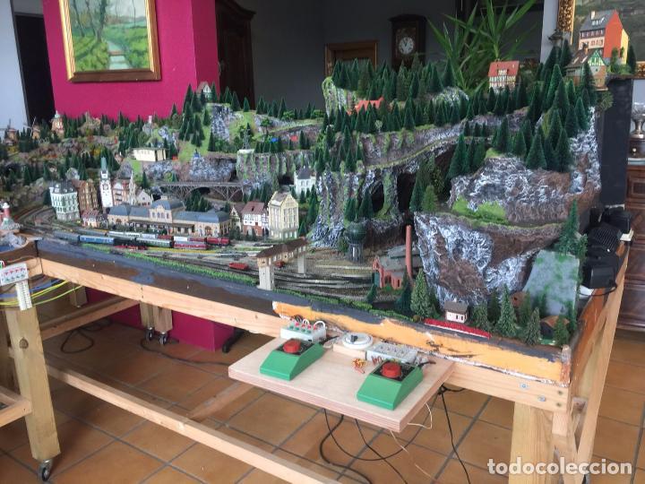 Trenes Escala: Extraordinaria y única MAQUETA DE TREN, gran tamaño, mas de 3 metros. Escala N. Leer mas... -vídeo- - Foto 48 - 95985167