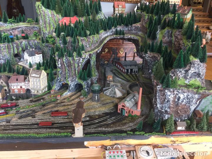 Trenes Escala: Extraordinaria y única MAQUETA DE TREN, gran tamaño, mas de 3 metros. Escala N. Leer mas... -vídeo- - Foto 50 - 95985167