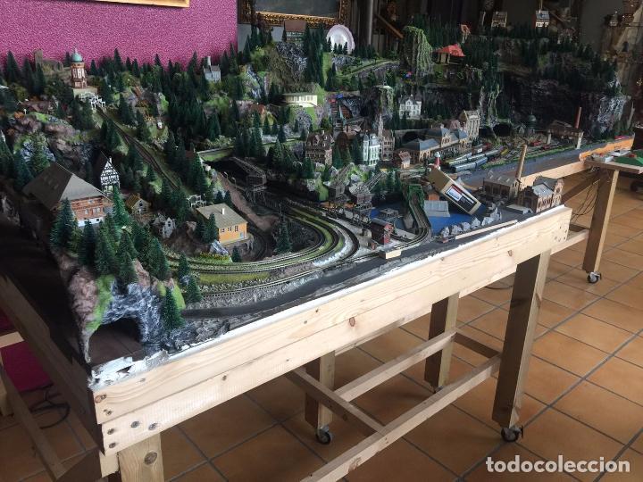 Trenes Escala: Extraordinaria y única MAQUETA DE TREN, gran tamaño, mas de 3 metros. Escala N. Leer mas... -vídeo- - Foto 52 - 95985167