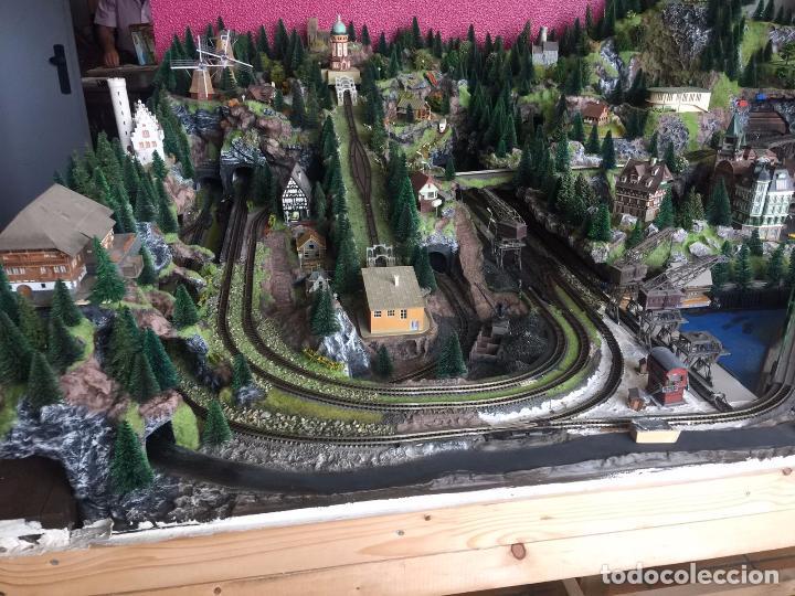 Trenes Escala: Extraordinaria y única MAQUETA DE TREN, gran tamaño, mas de 3 metros. Escala N. Leer mas... -vídeo- - Foto 53 - 95985167