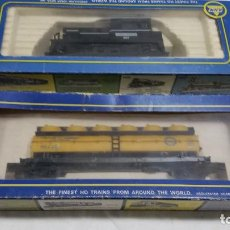Trenes Escala: A H M MAQUINA ILLINOIS CENTRAL AHM Y VAGON ACEITE HO H0. Lote 96100331