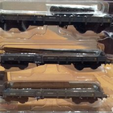 Trenes Escala: SET 3 VAGONES BORDE BAJO SERIE MM, RENFE. MABAR 81402. Lote 96183078