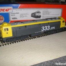 Trenes Escala: MABAR LOCOMOTORA DIESEL 333 MOTOR ROCO HO RENFE, CARROCERIA ELECTROTREN. ENVIO GRATIS.. Lote 96211039