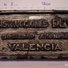 Trenes Escala: ANTIGUA PLACA FERROVIARIA DE CONSTRUCCIONES DEVIS S.A.. Lote 117636516