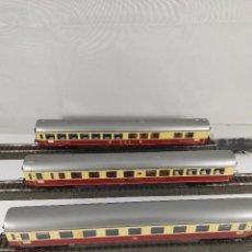 Trenes Escala: LOTE DE 3 VAGONES DE VIAJEROS TRANS EUROP EXPRESS DB TRIX ESCALA H0. Lote 97799263