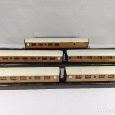 Trenes Escala: LOTE DE 5 VAGONES DE PASAJEROS LNER TRIANG ESCALA H0. Lote 97799615