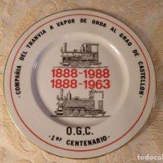 """Trenes Escala: LOCOMOTORA """"LA PANDEROLA"""" CERÁMICA CONMEMORATIVA DEL 1ER CENTENARIO O.G.C. 1988. Lote 99275187"""
