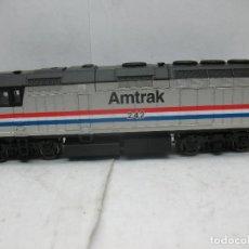 Trenes Escala: WALTHERS - LOCOMOTORA DIESEL AMTRAK 242 AMERICANA CORRIENTE CONTINUA - ESCALA H0. Lote 179144715