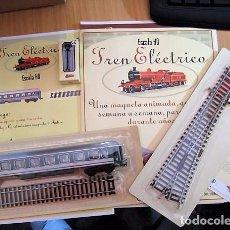 Trenes Escala: TREN ELÉCTRICO. FASCICULOS 1 Y 2 COMPLETOS CON ACCESORIOS, VAGÓN Y VIAS. ESCALA H0. . Lote 100129531