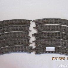 Trenes Escala: LOTE DE DIEZ CURVAS VIAS DE TREN TRIANG . Lote 102728163