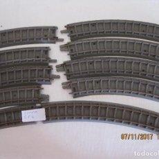 Trenes Escala: LOTE DE DIEZ CURVAS VIAS DE TREN TRIANG - 5. Lote 102728863
