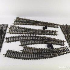 Trenes Escala: LOTE DE 6 DESVIOS EN RECTA Y CURVA MARKLIN K ESCALA H0. Lote 102910635