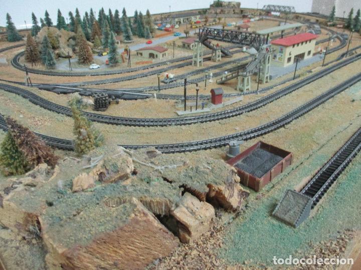 Trenes Escala: Bonita Maqueta Antigua - Ibertren - Escala 3N - Diorama - Estación Salou - Años 70 - Foto 5 - 104682683