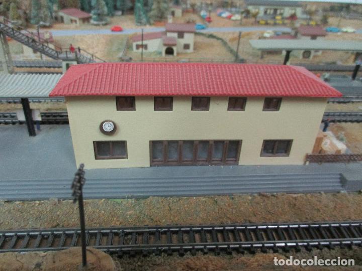 Trenes Escala: Bonita Maqueta Antigua - Ibertren - Escala 3N - Diorama - Estación Salou - Años 70 - Foto 7 - 104682683