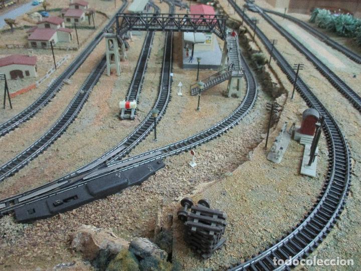 Trenes Escala: Bonita Maqueta Antigua - Ibertren - Escala 3N - Diorama - Estación Salou - Años 70 - Foto 10 - 104682683