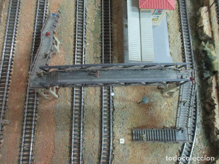 Trenes Escala: Bonita Maqueta Antigua - Ibertren - Escala 3N - Diorama - Estación Salou - Años 70 - Foto 11 - 104682683