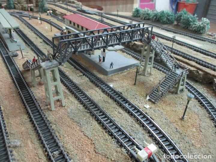 Trenes Escala: Bonita Maqueta Antigua - Ibertren - Escala 3N - Diorama - Estación Salou - Años 70 - Foto 12 - 104682683