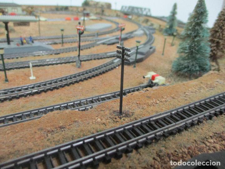 Trenes Escala: Bonita Maqueta Antigua - Ibertren - Escala 3N - Diorama - Estación Salou - Años 70 - Foto 13 - 104682683