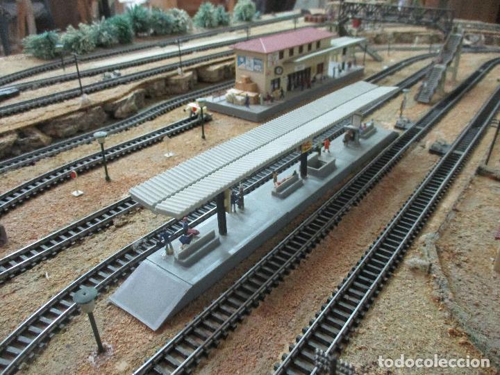 Trenes Escala: Bonita Maqueta Antigua - Ibertren - Escala 3N - Diorama - Estación Salou - Años 70 - Foto 19 - 104682683