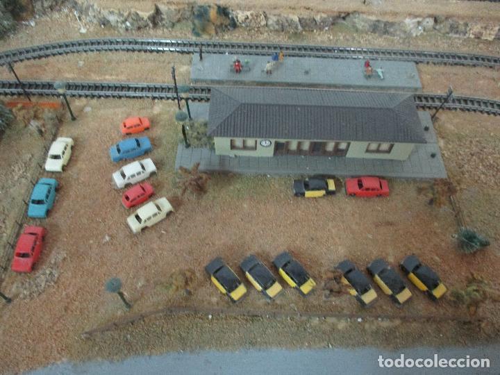 Trenes Escala: Bonita Maqueta Antigua - Ibertren - Escala 3N - Diorama - Estación Salou - Años 70 - Foto 23 - 104682683