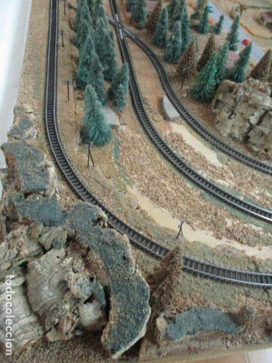 Trenes Escala: Bonita Maqueta Antigua - Ibertren - Escala 3N - Diorama - Estación Salou - Años 70 - Foto 29 - 104682683