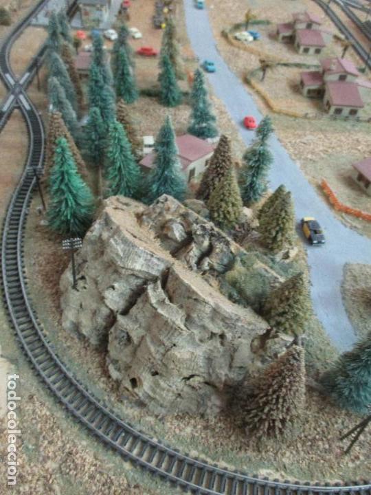 Trenes Escala: Bonita Maqueta Antigua - Ibertren - Escala 3N - Diorama - Estación Salou - Años 70 - Foto 30 - 104682683