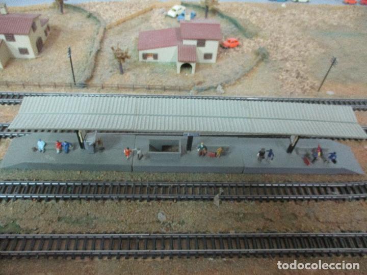 Trenes Escala: Bonita Maqueta Antigua - Ibertren - Escala 3N - Diorama - Estación Salou - Años 70 - Foto 31 - 104682683