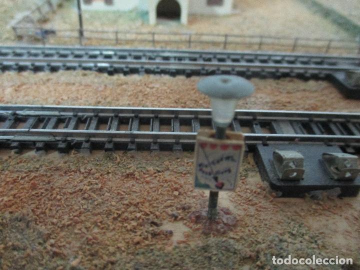 Trenes Escala: Bonita Maqueta Antigua - Ibertren - Escala 3N - Diorama - Estación Salou - Años 70 - Foto 33 - 104682683