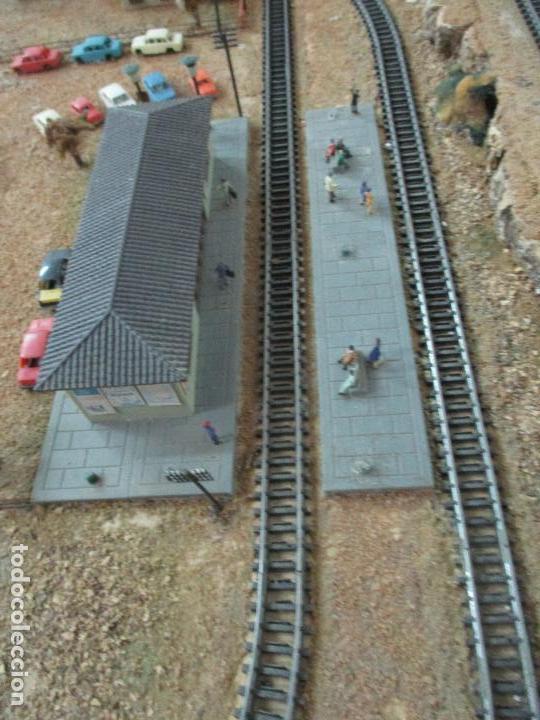 Trenes Escala: Bonita Maqueta Antigua - Ibertren - Escala 3N - Diorama - Estación Salou - Años 70 - Foto 34 - 104682683