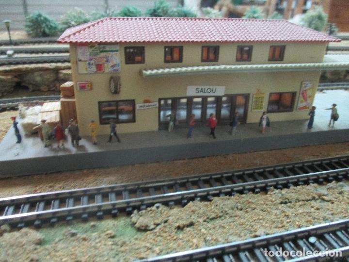 Trenes Escala: Bonita Maqueta Antigua - Ibertren - Escala 3N - Diorama - Estación Salou - Años 70 - Foto 35 - 104682683