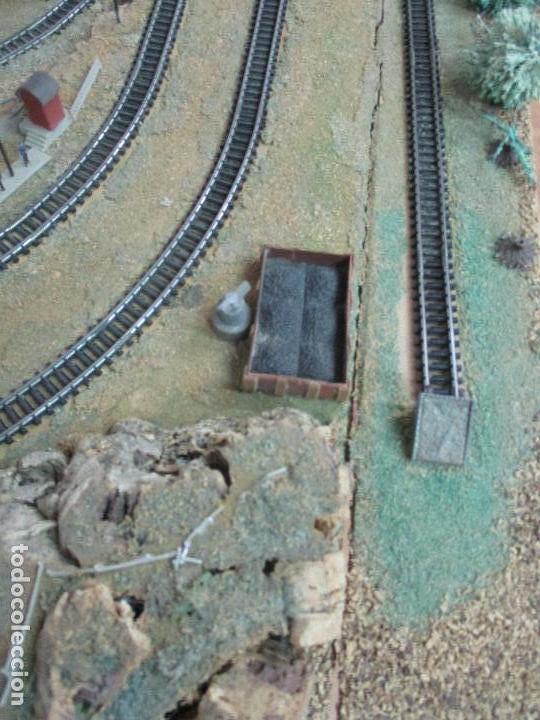 Trenes Escala: Bonita Maqueta Antigua - Ibertren - Escala 3N - Diorama - Estación Salou - Años 70 - Foto 37 - 104682683