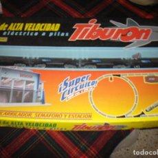 Trenes Escala: PEQUETREN TIBURON JUGUETE ANTIGUO TREN ANTIGUO VALTOY. Lote 105107207