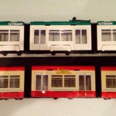 Trenes Escala: MAJORETTE: TRANVÍA CITY LINER & TRAM DE BARCELONA.. Lote 103321303