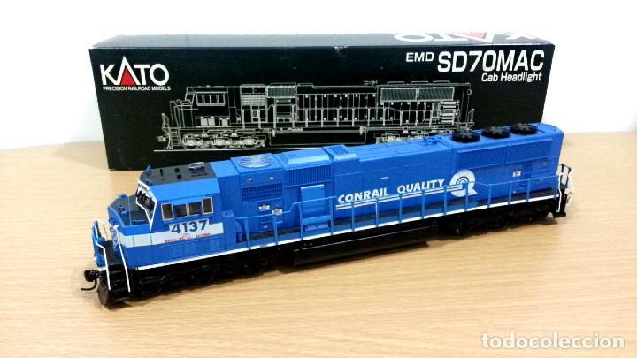 LOCOMOTORA KATO EMD SD70MAC CONRAIL #4137 ESCALA H0 (Juguetes - Trenes Escala H0 - Otros Trenes Escala H0)