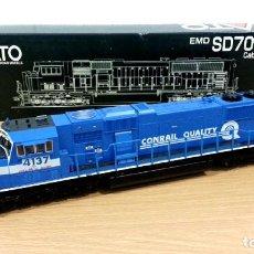 Trenes Escala: LOCOMOTORA KATO EMD SD70MAC CONRAIL #4137 ESCALA H0. Lote 106677023