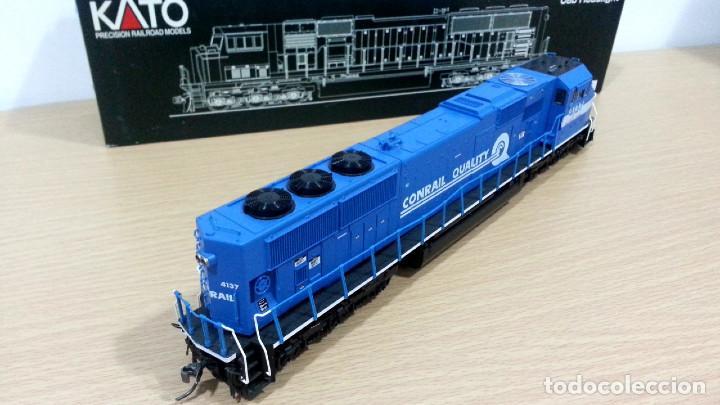 Trenes Escala: Locomotora Kato EMD SD70MAC Conrail #4137 Escala H0 - Foto 9 - 106677023