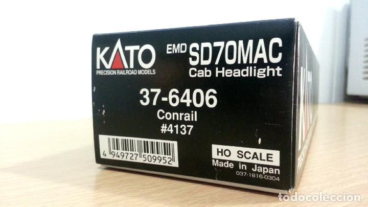 Trenes Escala: Locomotora Kato EMD SD70MAC Conrail #4137 Escala H0 - Foto 15 - 106677023