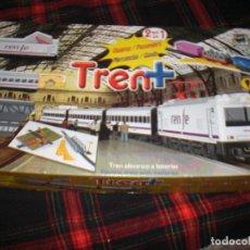 Trenes Escala: PEQUETREN DOS TRENES EN UNO , VALTOY , VALENCIANA DE JUGUETES, TREN ANTIGUO, JUGUETE ANTIGUO. Lote 107036435