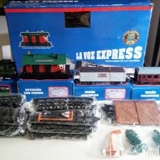 Trenes Escala: TREN A PILAS, PROMOCIONAL DEL DIARIO LA VOZ EXPRESS MUY ANTIGUO. Lote 108844451